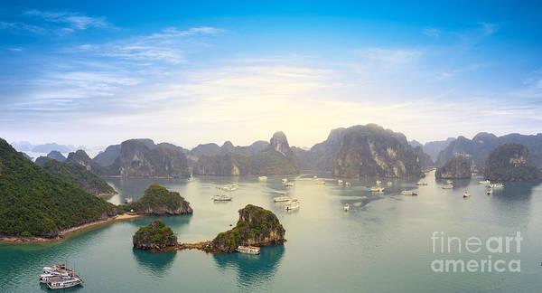 Halong Bay Vietnam Panoramic Sea View Art Print