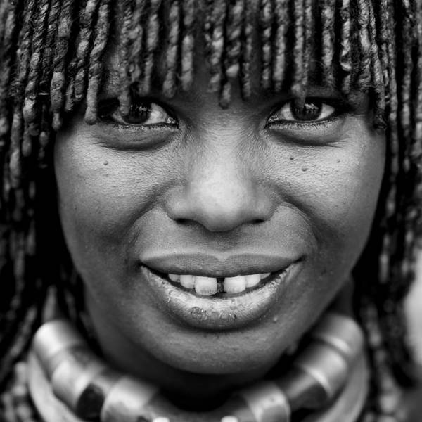 Photograph - Hamar Tribe Woman In Ethiopia On by Eric Lafforgue
