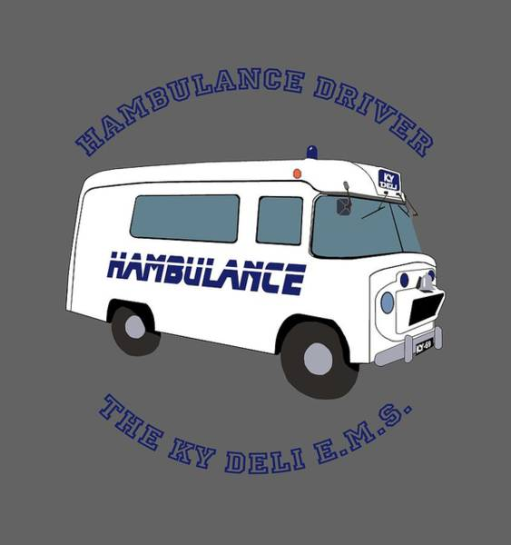 Cookout Digital Art - Hambulance Driver by Enzwell Designs