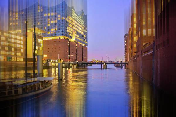 Brick House Photograph - Hamburg Opera House And Speicherstadt By Night by Carol Japp
