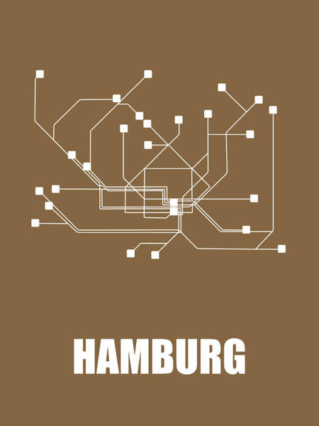 Wall Art - Digital Art - Hamburg Subway Map 2 by Naxart Studio