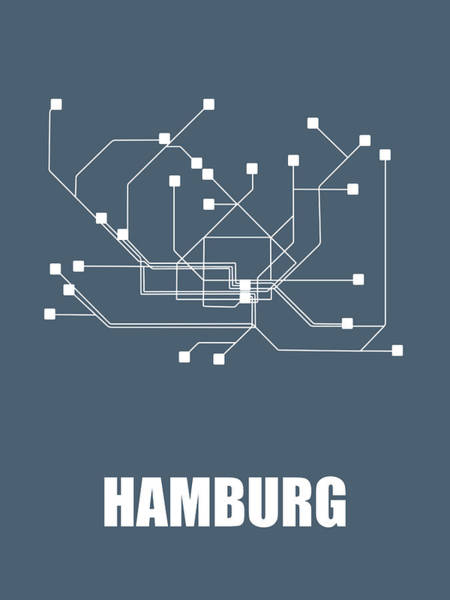 Wall Art - Digital Art -  Hamburg Subway Map by Naxart Studio