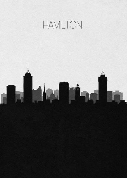 Digital Art - Hamilton Cityscape Art by Inspirowl Design