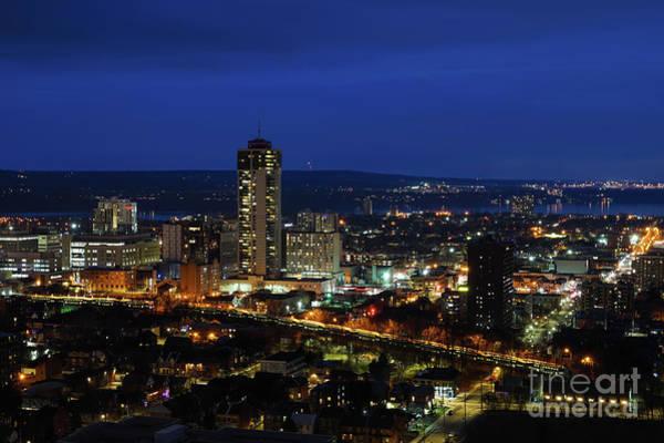 Photograph - Hamilton Ontario At Night by Rachel Cohen