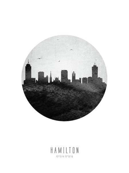 Wall Art - Digital Art - Hamilton Skyline Caonha04 by Aged Pixel