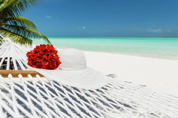 Sun Hat Photograph - Hammock With Flowers And Hat On A by Pete Atkinson