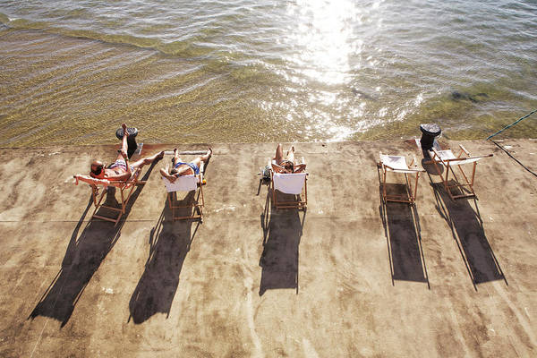 San Sebastian Photograph - Hammocks In Front The Sea by Am2photo