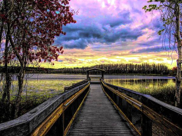 Digital Art - Hammond Lake by Robert Stanhope