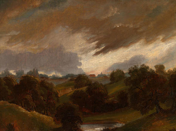 Painting - Hampstead, Stormy Sky by John Constable
