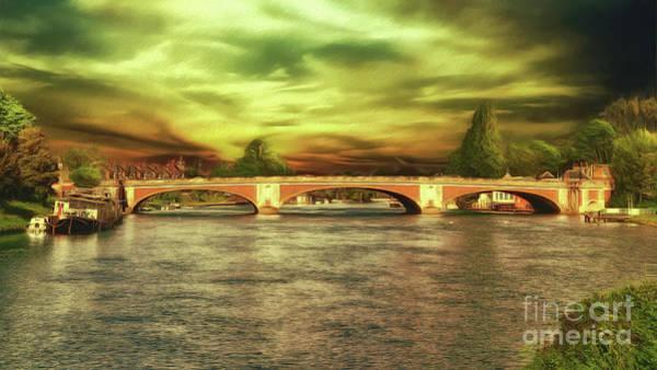 Photograph - Hampton Court Bridge by Leigh Kemp