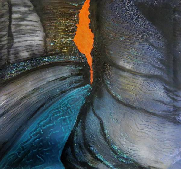 Wall Art - Painting - Hancock Gorge by Joan Stratton