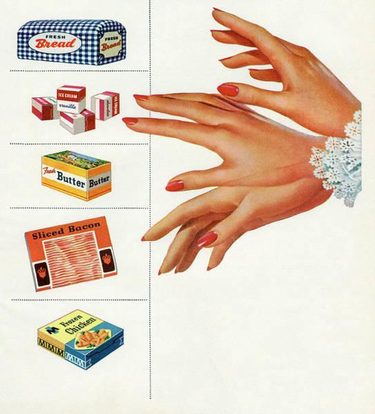 Archival Digital Art - Hand Chooses Between Groceries by Graphicaartis