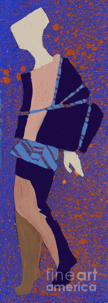 Elegant Lady Wall Art - Digital Art - Hand Drawn Fashionable Artistic by Alina Shakhovets