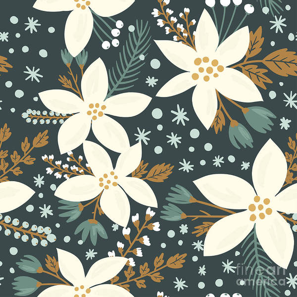 Wall Art - Digital Art - Hand Drawn Floral Seamless Vector by Artnis