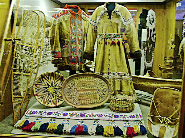 University Of Alaska Photograph - Hand-made Clothing In University Of Alaska's Museum Of The North In Fairbanks, Alaska by Ruth Hager