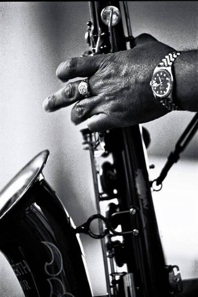 Photograph - Hand Of Ron Holloway by Bill Jonscher