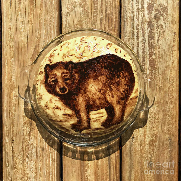 Photograph - Hand Painted Sourdough Bear Boule 1 by Amy E Fraser