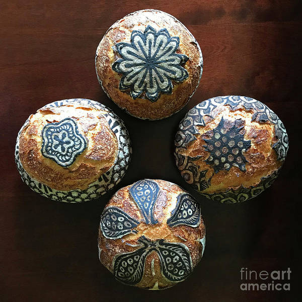Photograph - Hand Painted Sourdough Seed Pods 1 by Amy E Fraser