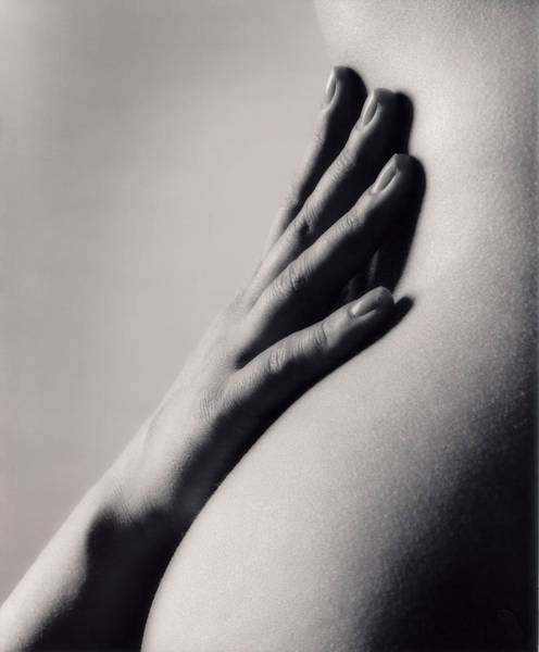 Buttocks Photograph - Hand Resting Against Lower Back, Mid by Justin Pumfrey