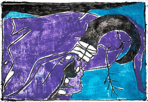Painting - Hand Scythe by Artist Dot