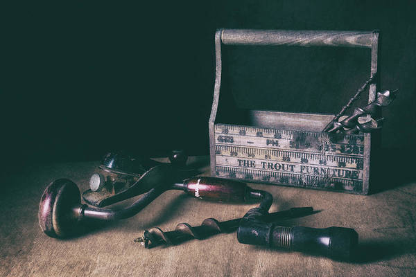 Drill Photograph - Hand Tools - Brace And Bits by Tom Mc Nemar