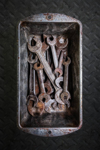 Object Wall Art - Photograph - Hand Tools - Wrenches by Tom Mc Nemar