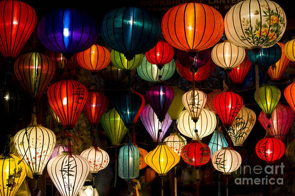 Wall Art - Photograph - Handcrafted Lanterns In Ancient Town by Jimmy Tran