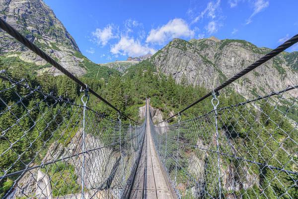 Wall Art - Photograph - Handeckfall Bridge - Switzerland by Joana Kruse
