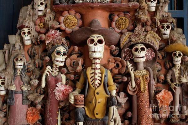 Wall Art - Photograph - Handmade Skeleton Figures by Sarah Saratonina