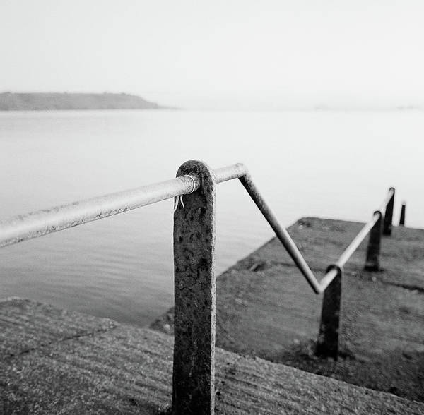 Bannister Wall Art - Photograph - Handrail Steps To Water Plymouth Hoe by Adam Hirons Photography