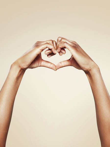 Human Hand Photograph - Hands Forming A Cute Heart Shape by Paper Boat Creative