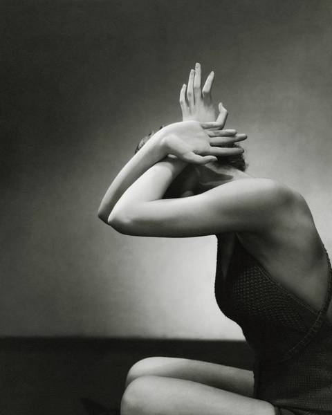Human Head Photograph - Hands Of Model by Edward Steichen