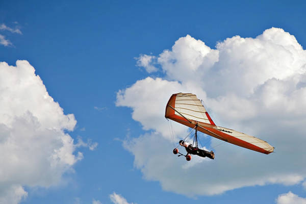 Hanged Photograph - Hang Gliding In The Clouds by Birdofprey