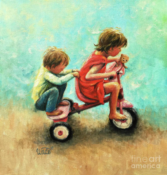 Wall Art - Painting - Hang On Brother And Sister by Vickie Wade