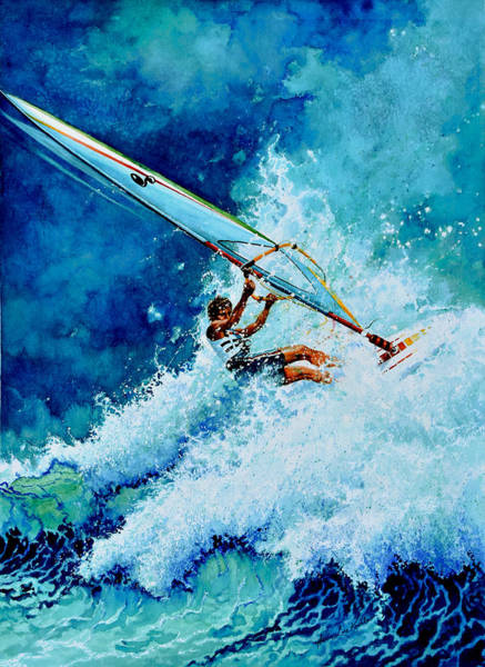 Action Sports Painting - Hang Ten by Hanne Lore Koehler