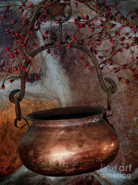 Photograph - Hanging Copper Pot by Mark Miller