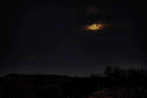 Photograph - Hanging Full Moon by Dale Kauzlaric