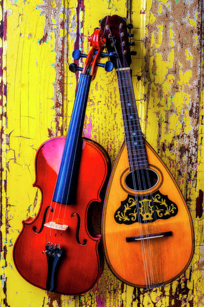 Wall Art - Photograph - Hanging Mandolin And Violin by Garry Gay