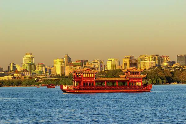 Photograph - Hangzhou Skyline From West Lake by Aashish Vaidya