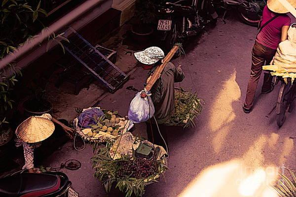Wall Art - Digital Art - Hanoi Streets 2 Of 4 by Chuck Kuhn