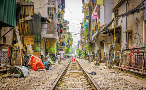 Photograph - Hanoi Train Track by Gary Gillette