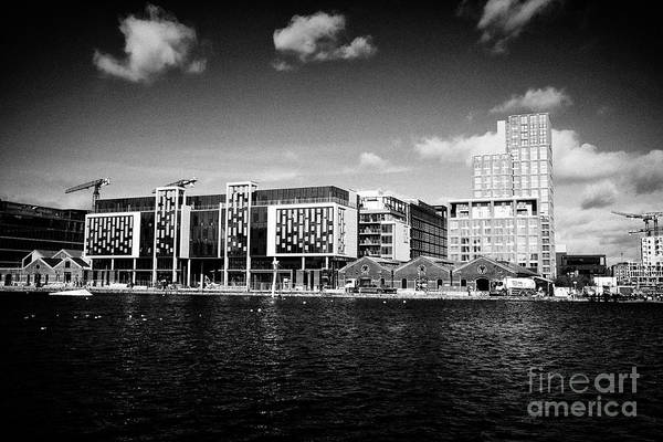 Wall Art - Photograph - Hanover Quay And Grand Canal Docks With The New Airbnb Warehouse Headquarters And The Reflector Buil by Joe Fox