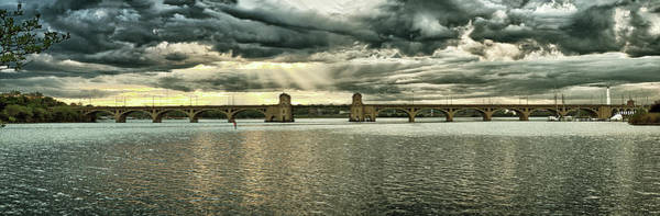Photograph - Hanover Street Bridge Panorama Goldtone by Bill Swartwout Photography