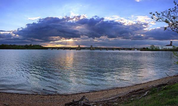 Photograph - Hanover Street Bridge Port Covington Panorama by Bill Swartwout Photography