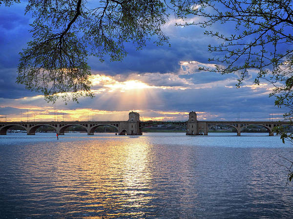 Photograph - Hanover Street Bridge Sunset by Bill Swartwout Photography