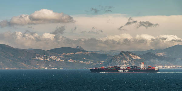 Photograph - Hapag-lloyd Containership Entering The Mediterranean Sea by William Dickman