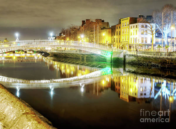Wall Art - Photograph - Ha'penny Bridge Nights In Dublin by John Rizzuto