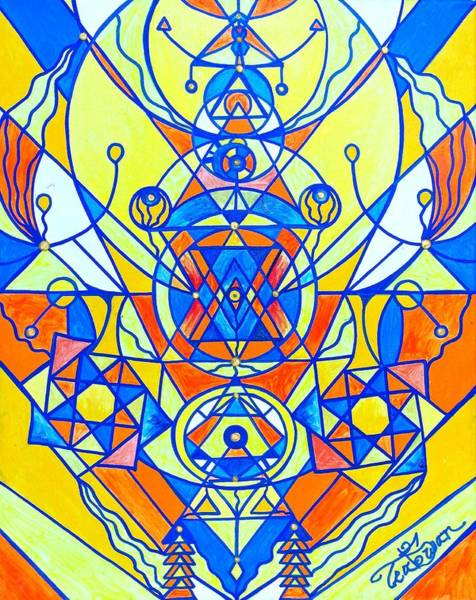 Painting - Happiness Pleiadian Lightwork Model by Teal Eye Print Store