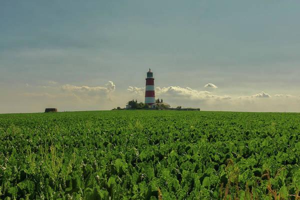Photograph - Happisburgh Lighthouse On The Horizon by Scott Lyons