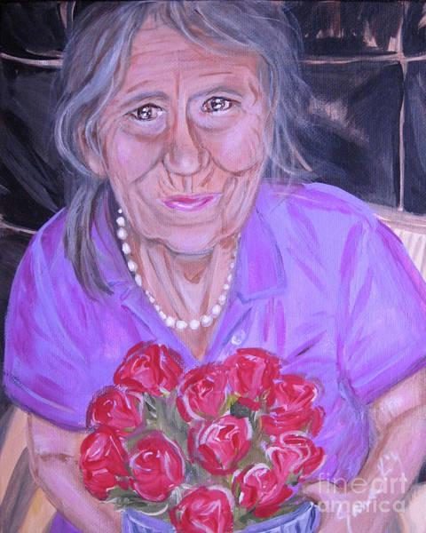 Painting - Happy 79 Birthday,roses For You by Oksana Semenchenko